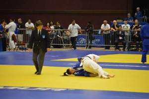 Ojukan sensei Joan Miller refereeing at 2014 US Senior Nationals in Reno, NV